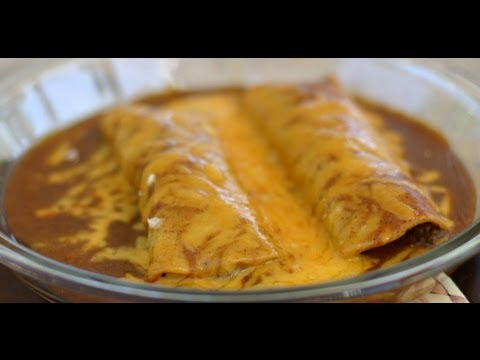 How To Make Beef Enchiladas Topped With Homemade Enchilada Sauce  by Rockin Robin