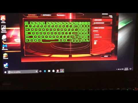 Backlight Keyboard Directions for ASUS GL753VD