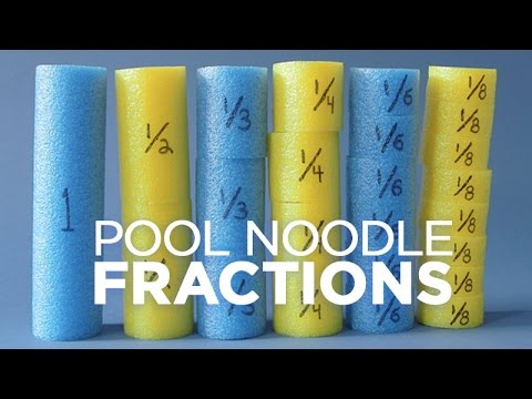 Fun Fractions Lesson with Pool Noodles