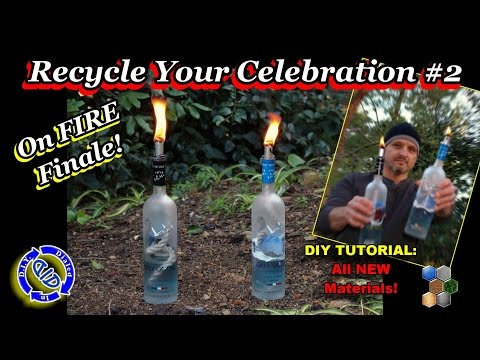 Make Tiki Torches from Recycled Bottles - Complete & Easy DIY Tutorial