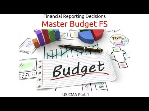 Master Budget FS | Financial Reporting Decisions| US CMA Part 1| US CMA course | US CMA Exam