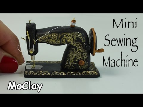 How to make a miniature vintage sewing machine - Dollhouse DIY