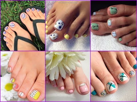 50+ Beautiful Toe Nail Art Designs Ideas for Spring Summer 2018