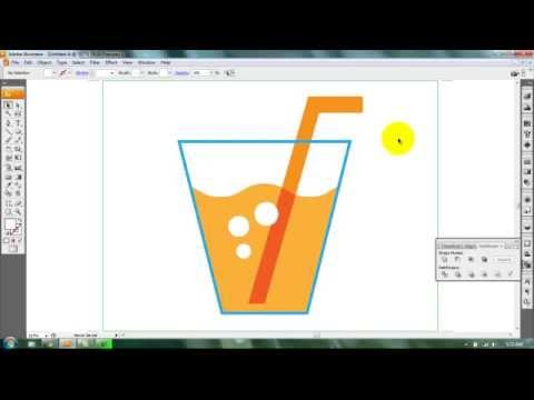 Adobe Illustrator Tutorial | Draw a Juice Glass
