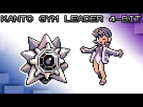 Pokemon Red, Blue and Yellow - Battle! GSC Kanto Gym Leader Music [4bit]
