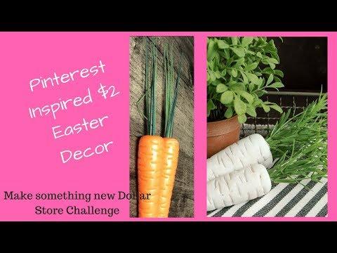 Easy Carrot Decorations | Dollar Tree DIY Make something new