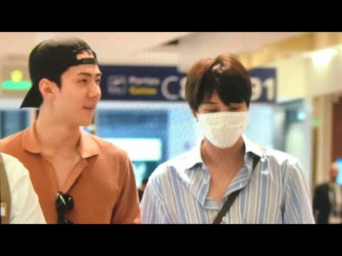 (180601) Sehun & Kai at CDG Airport Heading to Hongkong