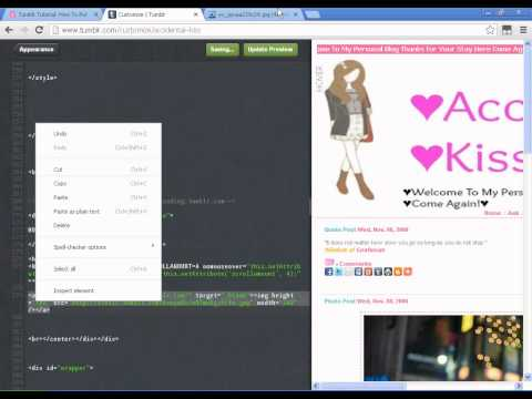 How To Put Slide Out Tab (hover) With Marquee Part 2 In Tumblr