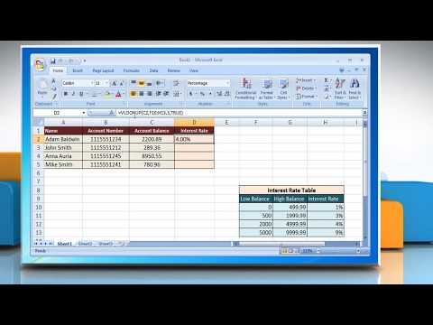 VLOOKUP Closest Match Function in Microsoft® Excel 2007