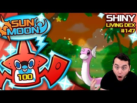 #100! SHINY DRATINI!! Quest For Shiny Living Dex #147 | Sun Moon Shiny #100