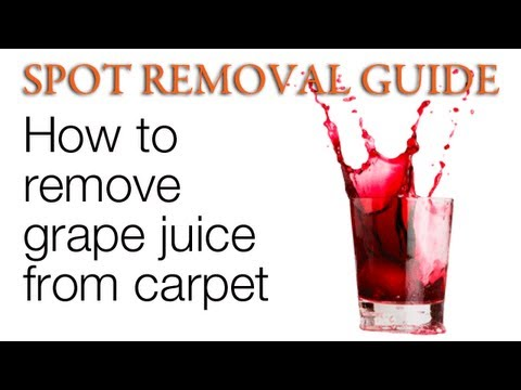How to Get Grape Juice out of Carpet | Spot Removal Guide