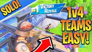 Download How to DESTROY Teams 1v4 EASY! Fortnite Ps4/Xbox Tips and Tricks Season 7 (How to Win in Fortnite) Video