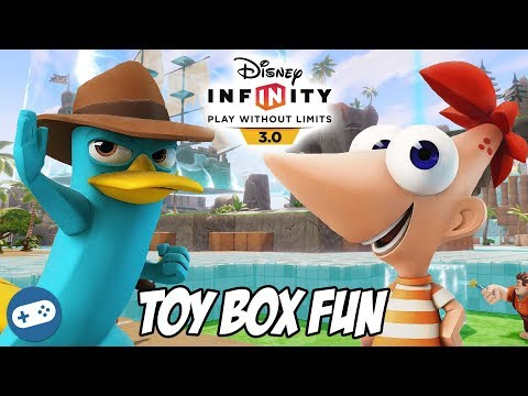 Phineas and Perry the Platypus Disney Infinity 3.0 Toy Box Fun Gameplay - Phineas and Ferb