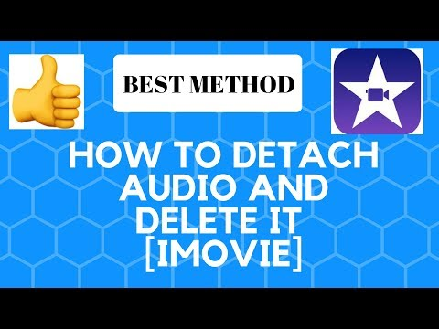 How to detach audio from a clip in iMovie or delete it.