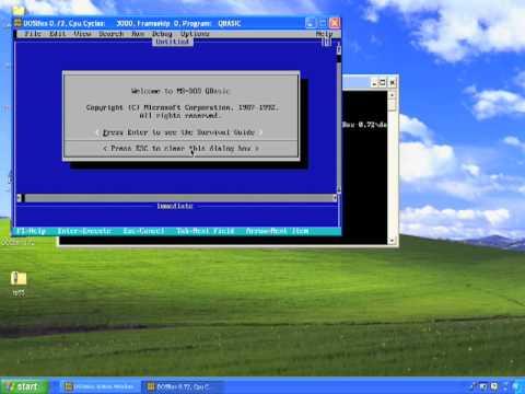 DosBox Tutorial - Running DOS Programs On Windows 10, Vista, 7, 8 (W8), XP - Free Download Link