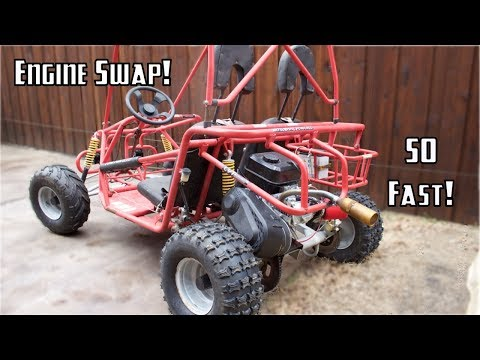Cheap Off-Road Go Kart Engine Swap!