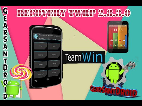 Instalar Recovery TWRP 2.8.3.0 Android Lollipop 5.0.1 GPE Moto G