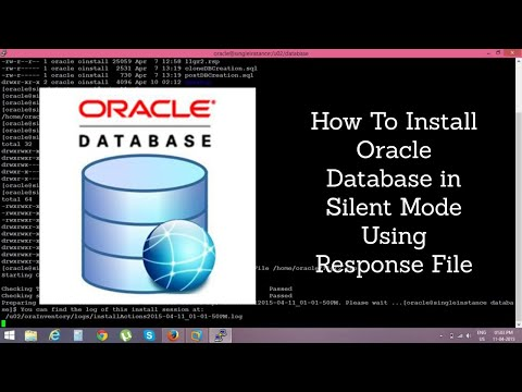 How to install oracle 11g in silent mode using response file