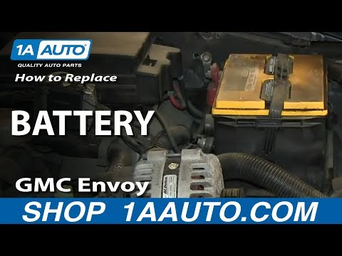 How To Install Replace Dead Battery 2002-09 GMC Envoy and XL XUV