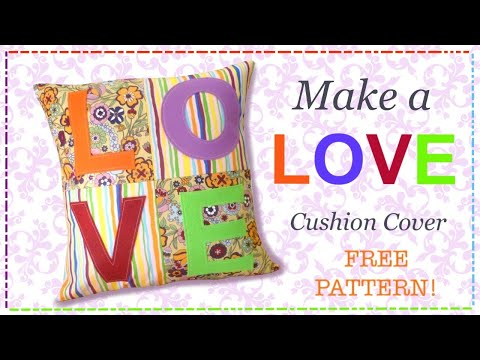 DIY Cushion cover tutorial with free pattern by Lisa Pay