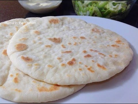 Pita Bread Recipe - Pita Bread Recipe Without Oven - Video Recipe by (HUMA IN THE KITCHEN)