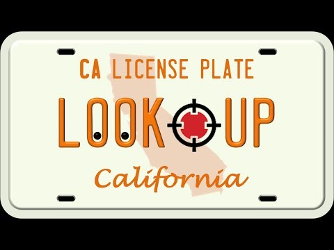 How to Search A California License Plate Number