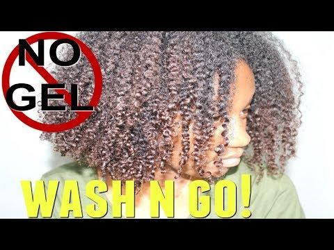 GEL FREE WASH N GO ON 4A NATURAL HAIR?  | EiffelCurls