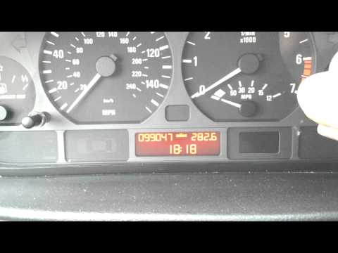 Setting the Clock on a BMW E46