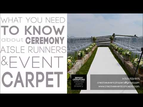 Wedding Aisle Runners & Event Carpet  | What You Need to Know!
