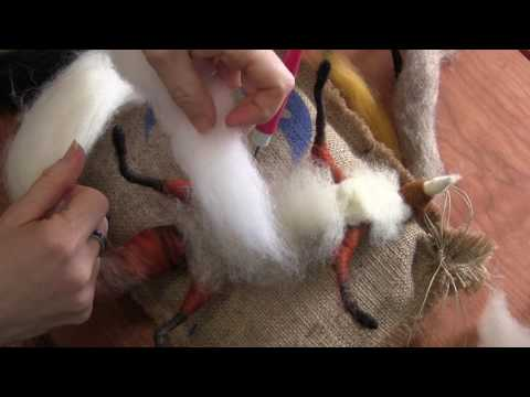 How To Needle Felt Animals - Fox Tutorial 2: Tail and Face