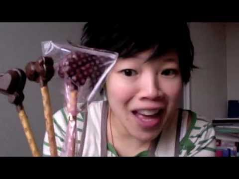 How to Make Chocolate Lollipops with Pretzel Sticks