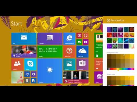 How to change win 8/8.1 start screen background & color - Urdu/Hindi