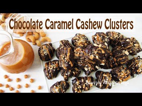 Chocolate Caramel Cashew Clusters