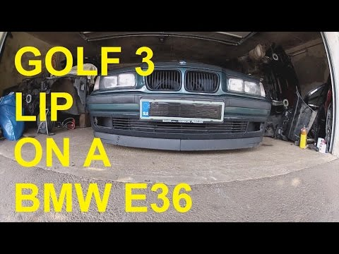 Project e36 Compact pt.1: Installing a Golf 3 Lip Spoiler