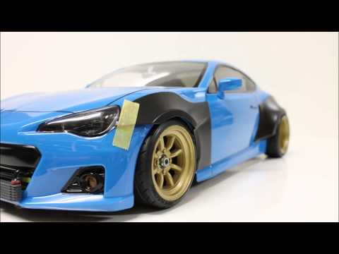 eac RC Body Build Subaru BRZ with Rocket Bunny Ver.1 Kit