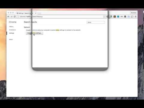 Configure a Socks Proxy on Chrome
