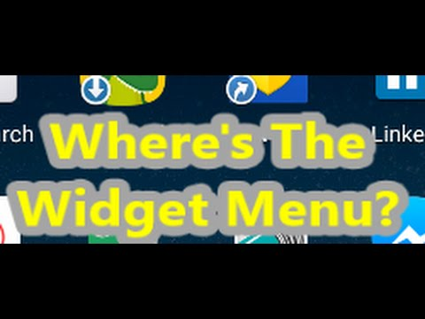 Where is The Widget Menu in Lollipop Android