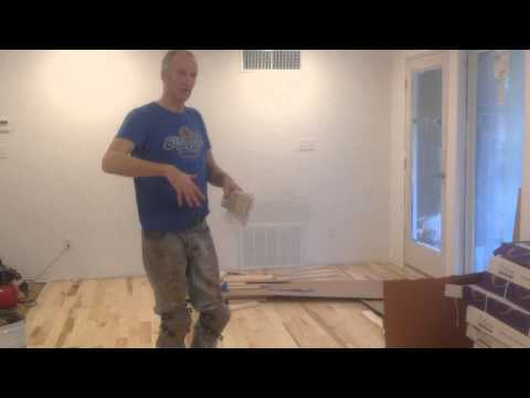 Gluing down prefinished solid hardwood flooring directly over concrete slab