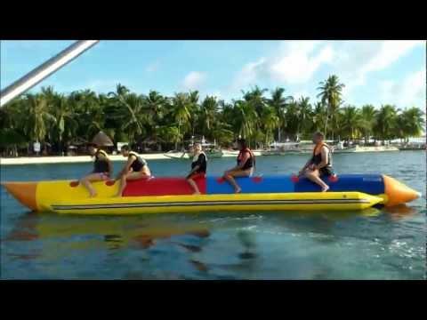Banana Boat Ride at Isla Pandan Day Resort, Pandan Island, Palawan, Philippines 2011
