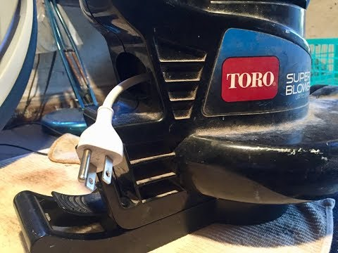 Toro Electric Blower Repair : New Male Plug Installed