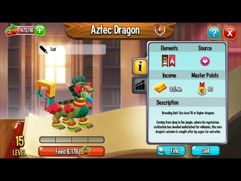 Dragon City Breeding Tutorial for Beginners | How To Breed AZTEC DRAGON, Volcano and Flaming Rock