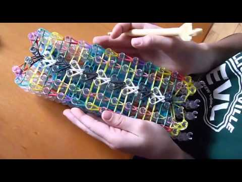 How to Make a Double Fishtail Ladder Rainbow Loom Bracelet