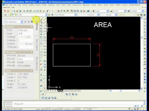 Area in Autocad