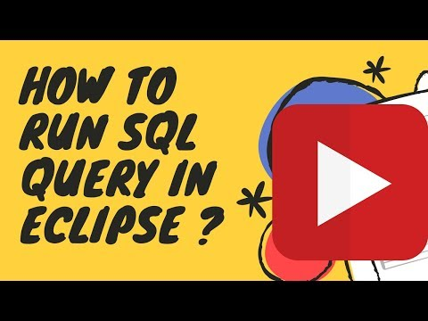 How to Run SQL Query in Eclipse