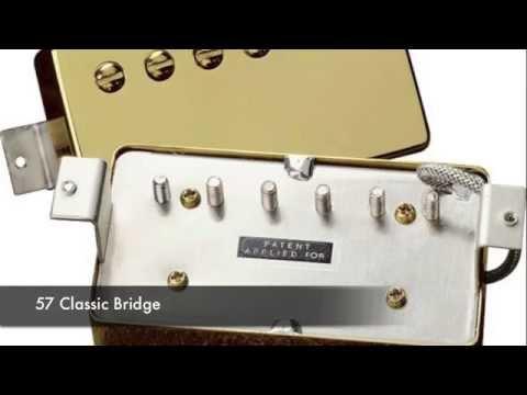 Gibson Pickups Comparison Test Demo - 57 Classic - BurstBucker 1 & 2 - 490R 498T - 496R 500T