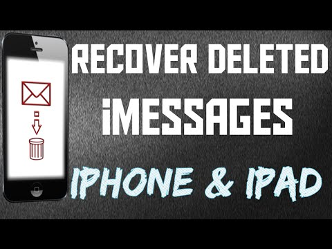 RECOVER DELETED iMESSAGES!!! [iPHONE & iPAD]