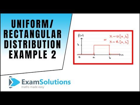 Uniform / Rectangular Distribution (2) pdf, probability, quartiles example : ExamSolutions