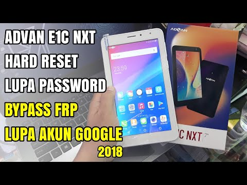 Advan Tab E1C NXT Factory Hard Reset Wipe All Data | Bypass Frp Android Nougat 7.0