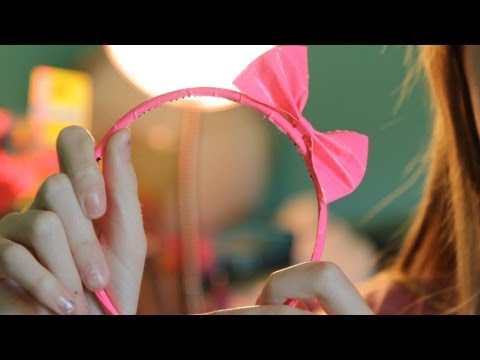 DIY Craft Tutorial - Make a Duct Tape Bow for Your Headband