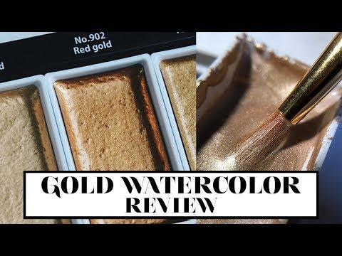 Gold Watercolor Review | Kuretaki Gansai Tambi Starry Colors